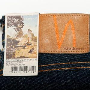 Nudie NWT Tight Long John Jeans 24